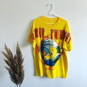 Vintage Yellow Tweety Bird Short Sleeve Top